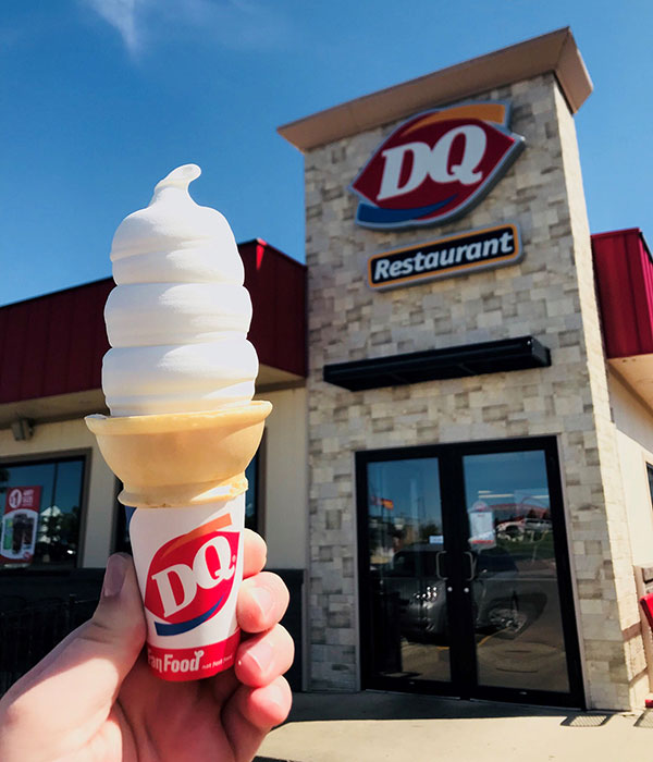 DQ Cone in Front of Store