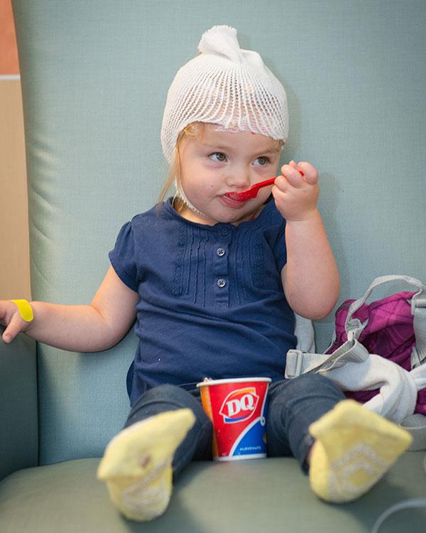 Little Girl Eating DQ
